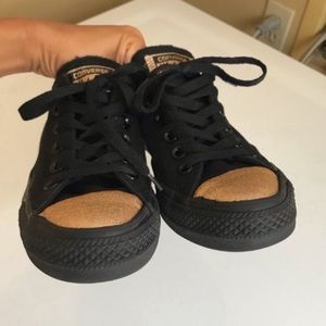 Converse all star Black/ Gold Tote Sneakers size 7